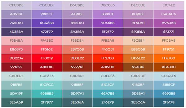 Màu sắc trên web phải hài hòa