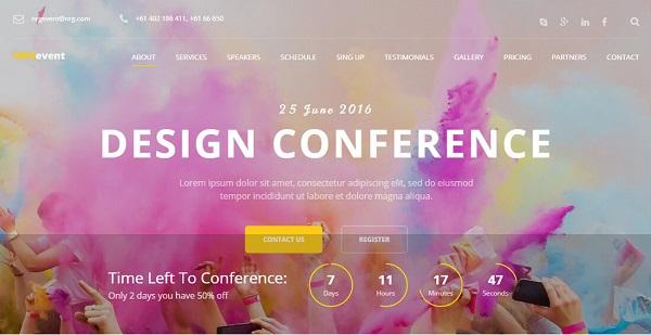 thiết kế web sự kiện