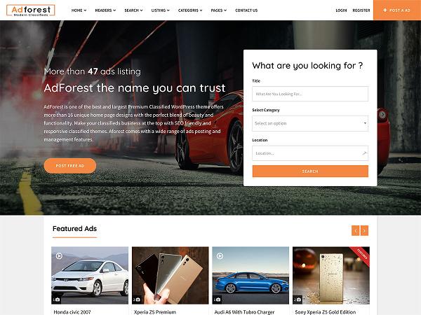 Classiads là mẫu chủ đề hoàn hảo cho trang web quảng cáo của bạn