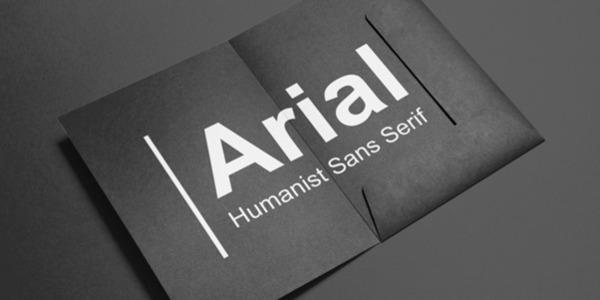 Arial là một trong những font chữ thông dụng nhất khi thiết kế