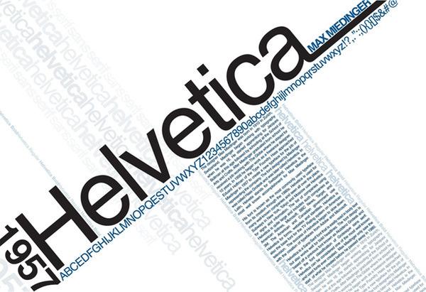 Helvetica là một font chữ dễ đọc và thân thiện