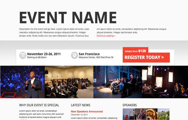web sự kiện