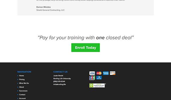 Phía trên và phía dưới màn hình thường trình bày thông tin doanh nghiệp hoặc đề xuất khách hàng để lại liên hệ