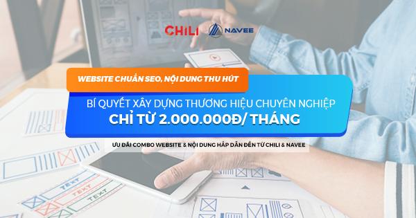 Ưu đãi Combo Website chuẩn SEO & Nội dung thu hút từ 2.000.000đ/tháng